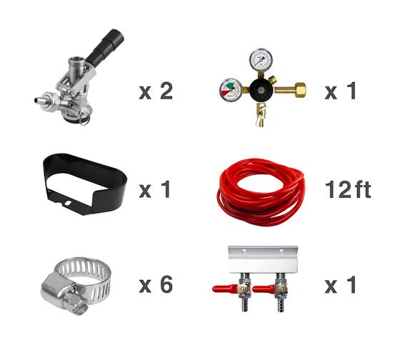 Kegerator, 2 Line Tapping Kit, CO2